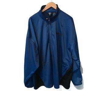 Starter full zip blue black track jacket 3X